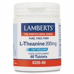 L-TEANINA LAMBERTS ENVASE DE 60 Tabletas de 200 mg