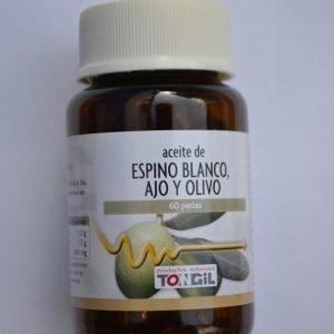 Aceite de Espino blanco, ajo y olivo
